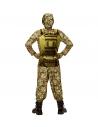 Déguisement militaire garçon (maillot muscles, pantalon, casque)
