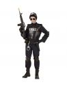 Déguisement Agent S.W.A.T. Garçon (combinaison, gilet pare-balles, ceinture avec holster et bourse, protège genoux et coudes, ma