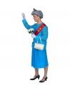 Déguisement Reine Elisabeth Homme (maillot, jupe, ceinture, gants, couronne, sac a main)