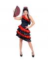 FEMME ESPAGNOLE (robe, coiffe avec voile)