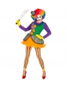Déguisement Joker femme multicolore (robe avec tutu, collants sans pieds, mini chapeau)