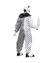 Déguisement Clown Pierrot Tueur Adulte noir et blanc (combinaison)