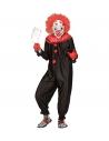 Déguisement Clown Tueur Homme noir et rouge (combinaison)