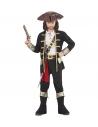 CAPITAINE PIRATE (casque avec chemise, pantalon, ceinture, porte-épée avec boucle, bandeau, chapeau, sur-bottes)