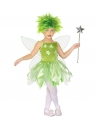 Déguisement fée, fille vert (robe, ailes)