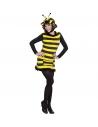 Déguisement femme abeille noir et jaune (robe, chapeau)