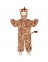 Déguisement girafe enfant (combinaison à capuche et masque)