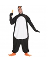 Déguisement Pingouin Noir et Blanc Adulte (combinaison, couvre-chef avec masque, pattes)