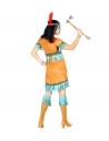Indienne femme (robe, bandeau avec plume)