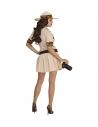 Déguisement safari femme beige (robe, ceinture, chapeau)