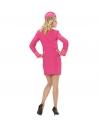 Déguisement hôtesse de l'air rose (robe, calot)