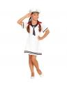 Déguisement Marin fille blanc (robe, calot)