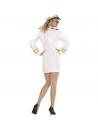 Déguisement marin femme blanc (robe, casquette)
