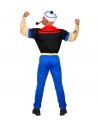 Déguisement Marin Epinard Homme (T-shirt avec les bras musclés, pantalon avec ceinture, bob)