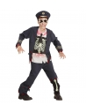 OFFICIER DE POLICE ZOMBIE (casaque avec chemise, pantalon, chapeau)