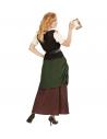 JEUNE FILLE MÉDIÉVALE (chemise avec corset, jupe avec tablier, ceinture)