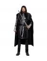 Déguisement Chevalier Sombre Homme (casaque avec armoiries, cape, ceinture)