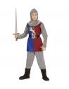 CHEVALIER MEDIEVAL (casaque, pantalon, couvre-bottes, ceinture, capuche)