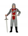 CHEVALIER MEDIEVAL (manteau avec capuche, ceinture, pantalons, protège-bottes)
