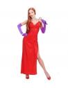 Déguisement star femme rouge (robe, gants)