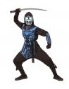 Déguisement cyber ninja (casaque à capuche,surcot, ceinture, protection pour les bras, masque avec lumière clignotante et 3 sons