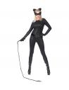 Déguisement super cat femme, noir (combinaison, gants, oreilles, masque)