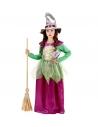 """""""SORCIERE"""" vert/violet (robe, chapeau)"""