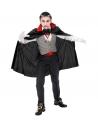 Déguisement Vampire Enfant (gilet, ceinture, noeud papillon, collier avec médaillon, gants, Cape)