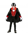 Déguisement Vampire Garçon (veste avec gilet, jabot, cape)