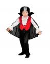 Déguisement Dracula garçon (chemise avec veste, jabots, pantalon, cape avec collar)