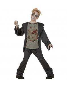 deguisement zombie garcon veste avec chemise torse pourri pantalon
