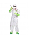 Déguisement Biohazard Blanc Adulte (combinaison à capuche)