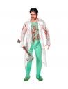 CHIRURGIEN ZOMBIE (blouse de laboratoire avec chemise tachée, pantalon, gants ensanglantés)