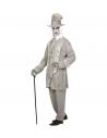 Déguisement Spectre Gentleman Gris Homme (veste, chapeau, écharpe)
