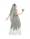 FIANCEE ZOMBIE (robe, voile fleuri, bouquet de fleurs)