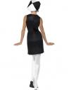 Robe années 60 damier noir et blanc | Déguisement