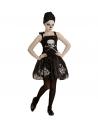 Déguisement Halloween fille (robe squelette noire)