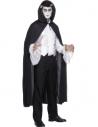 Cape vampire noire avec capuche   Déguisement