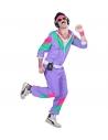 Déguisement Survêtement de Sport Année 80' Violet (veste, pantalon)