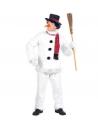Déguisement Bonhomme de Neige Homme (casaque, pantalon, chapeau, écharpe, nez)
