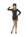 Déguisement pilote femme noir (robe, casquette)