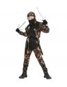 Déguisement Ninja militaire enfant (casaque avec capuche et lacets, pantalon avec lacets, ceinture, masque)