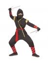 NINJA (veste à capuche, pantalon, ceinture, masque, bracelets, jambières)