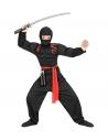 Déguisement Ninja super muscles enfant (chemise à capuche musclée, masque, pantalon, ceinture)