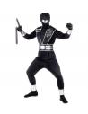 MIRROR NINJA  (manteau, pantalons, tabard avec ceinture, protège-bras, protège-jambes, gants, masque)