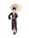 Déguisement Geisha Femme (kimono, ceinture, peignes)