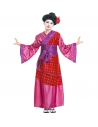 Déguisement Geisha rose fille (kimono rose, ceinture)