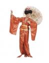 GEISHA FEMME (kimono orange, ceinture)
