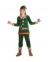 Elfe enfant vert (veste, pantalon, sur-chaussures, bonnet avec oreilles)