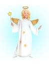 Déguisement Ange blanc et or (robe avec étoile, auréole)